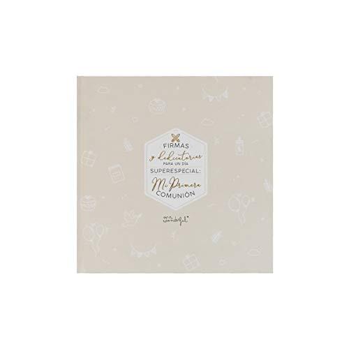Mr. Wonderful Álbum de firmas y dedicatorias para el día de Mi Primera Comunión